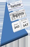 Información de las facturas a registrar