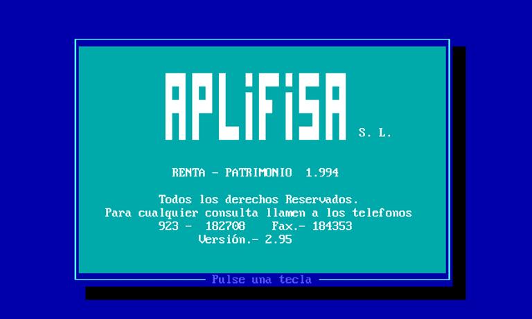 Programa de Renta de Aplifisa en MS-DOS (1994)
