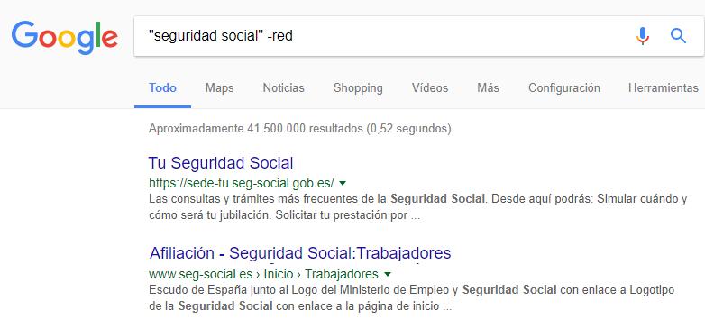 Exclusión en Google