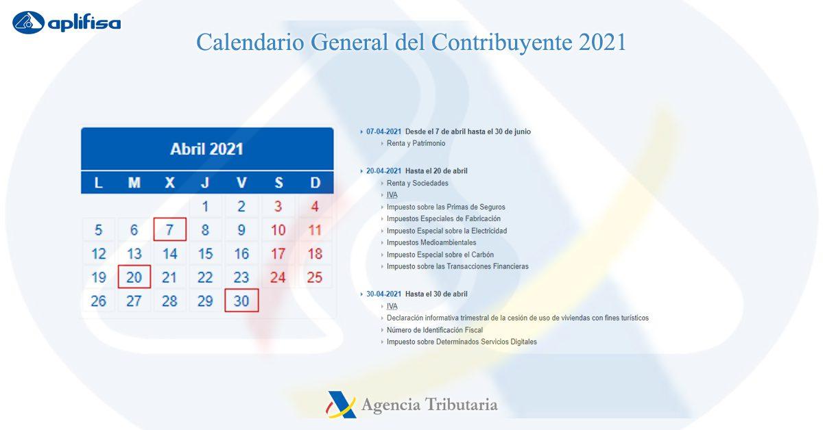 calendario contribuyente abril 2021 software para asesorías y empresas