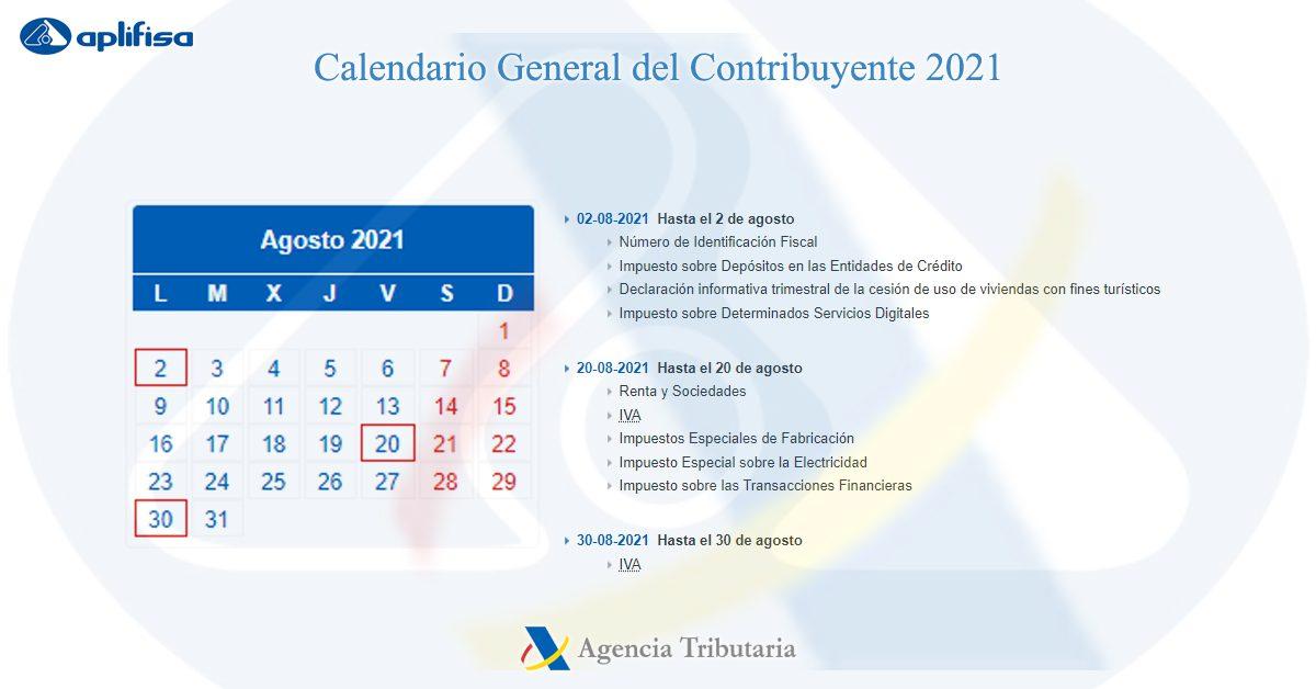 calendario contribuyente agosto 2021 software para asesorías y empresas