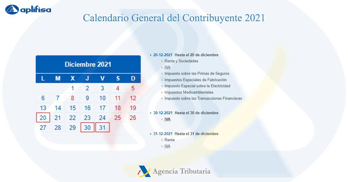 calendario contribuyente diciembre 2021 software para asesorías y empresas