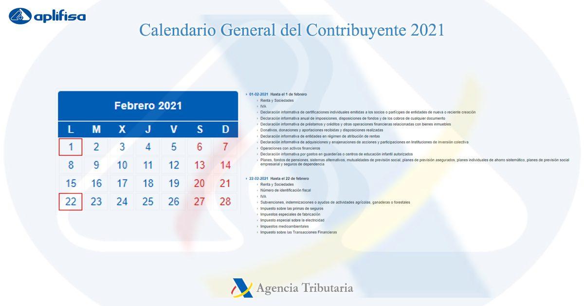 calendario contribuyente febrero 2021 software para asesorías y empresas