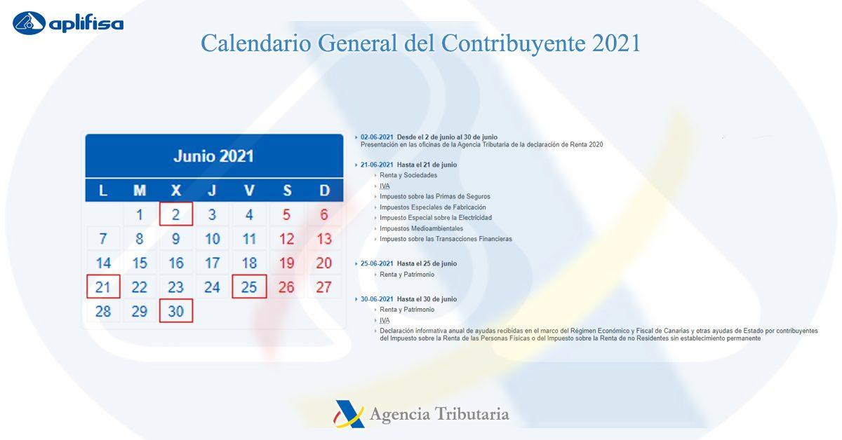 calendario contribuyente junio 2021 software para asesorías y empresas