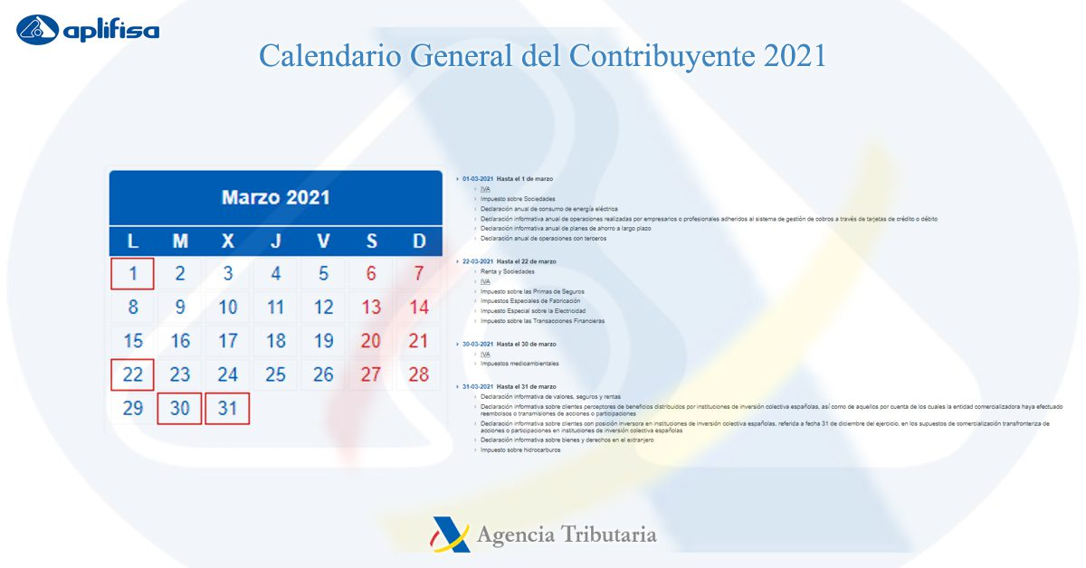calendario contribuyente marzo 2021 software para asesorías y empresas